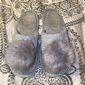 VS Puffball Grey Slip-On Slippers
